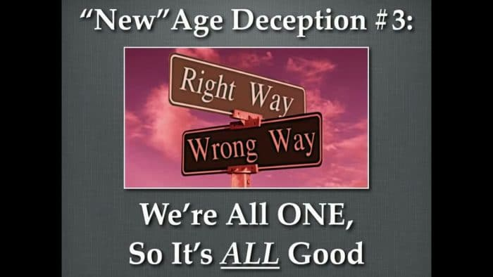 New Age Myth There is no good or evil