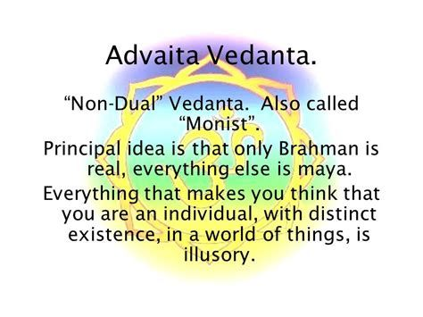 you are god myth advaita vedenta