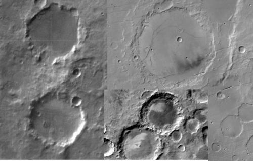 Mars Impact Craters: hexagonal craters