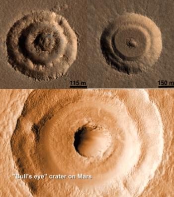 mars impact crater bullseye