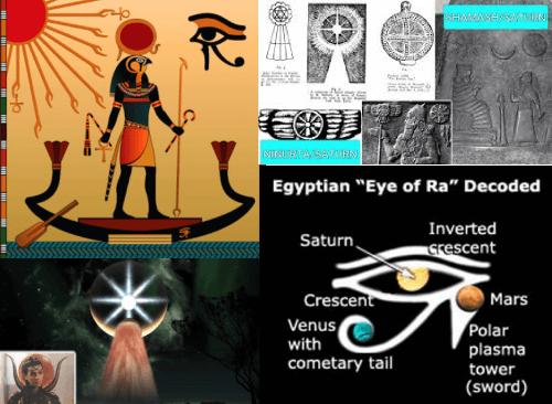 ancient egyptian sun gods eye of ra crescent celestial boat