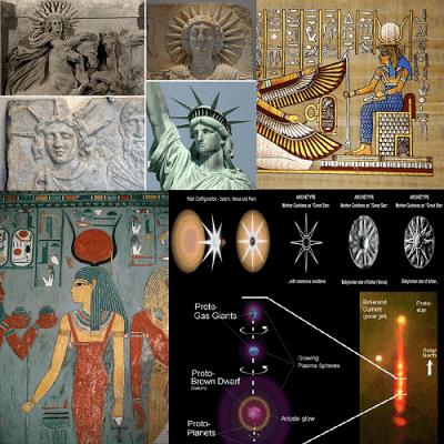 ancient egyptian sun gods Helios Isis Venus saturn polar configuration