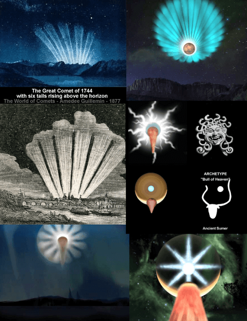 astrotheology comet venus seashell bull of heaven archetype