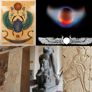 ancient egyptian sun gods red sun disk winged planet mars horus beetle archetype