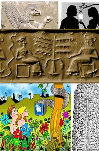 Origins of tarot Adam And Eve Tarot Sumerian Temptation Seal