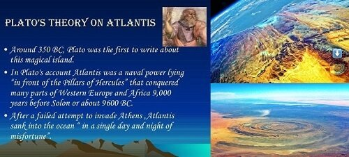 Richat Structure Atlantis destroyed overnight