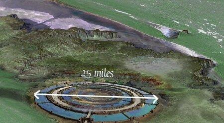 Richat Structure Atlantis 3 zones concentric rings