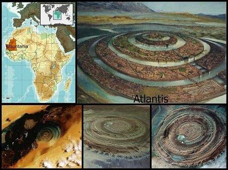 Richat Structure Atlantis Diameter Size Rings