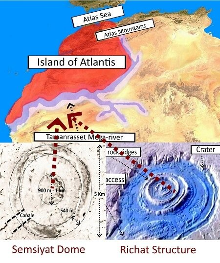 Richat Structure Atlantis ice age