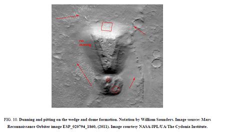 Keyhole On Mars sand duning