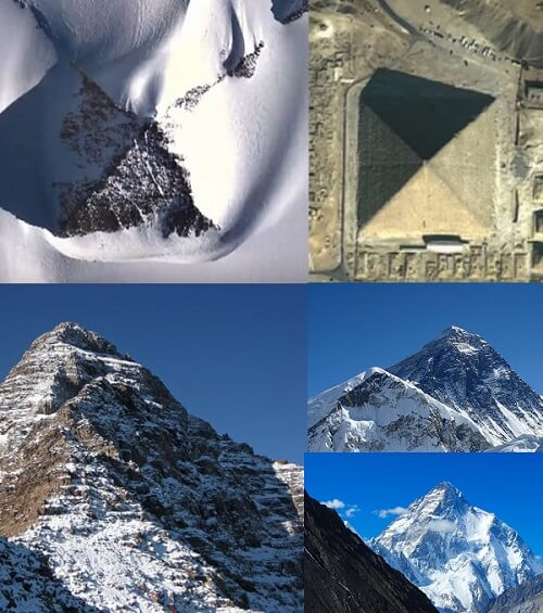 Are there pyramids in antartica pyramids vs natural forming fault mountains