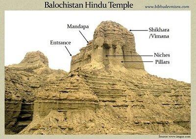 Balochistan Sphinx hindu temple structure