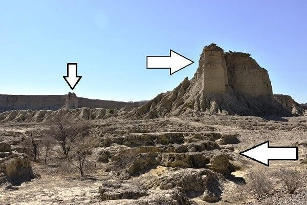 Balochistan Sphinx temple cut pillar
