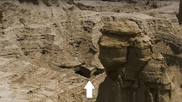 Balochistan Sphinx hidden cave entrance
