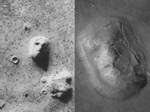 face of mars