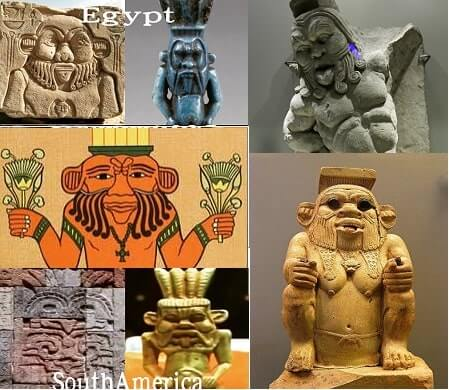 Wide Eyed Relics egyptian god Bes