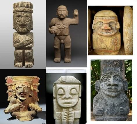 Wide Eyed Relics Mesoamerican statues